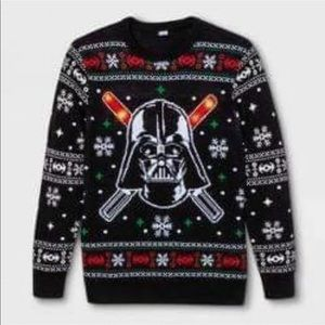 Star Wars ugly Christmas sweater light up  sz L